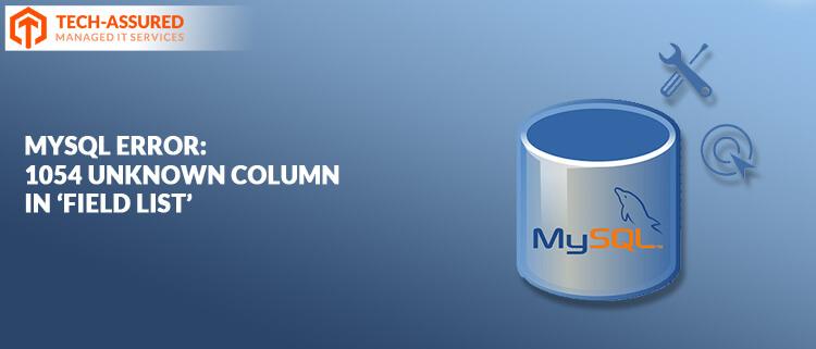 MySQL-Error-1054