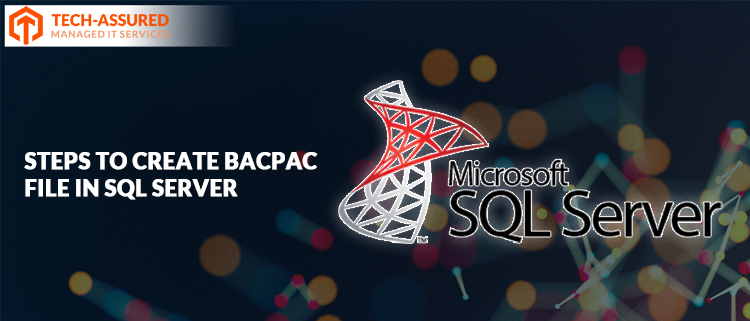 How to create BACPAC file in SQL server